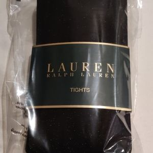Ralph Lauren Glitter Black Tights